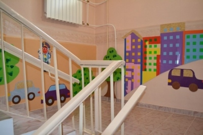 Лестница в детском саду.