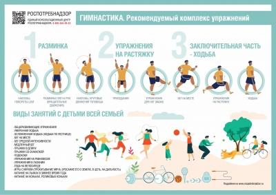 Памятка о комплексе упражнений утренней зарядки для всей семьи