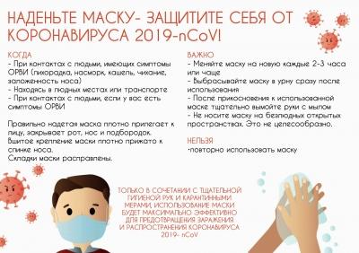 Плакат А4 о ношении маски в период пандемии