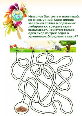 Лабиринт для детей подземные ходы мышонка