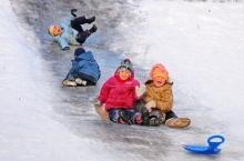 Правила поведения детей на ледяной горке