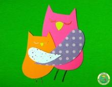 """Поделка для детей - аппликация """"Совушки"""" на dou.su"""