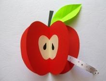 """Поделка для детей аппликация """"Яблоко"""" в детском саду"""