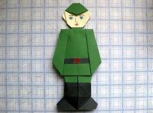 Поделка оригами к 23 февраля