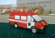 Поделка пожарной машины из бумаги на тему пожарной безопасности