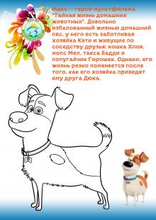 """Раскраска """"Макс из домашних животных"""""""
